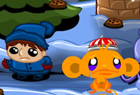 Monkey GO Happy Xmas Mini Game