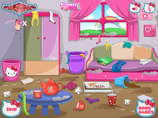 Play Hello Kitty House Makeover Free Online Games With