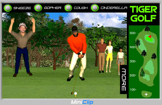 Play Tiger Grand Slam Golf - Free online games with Qgames org