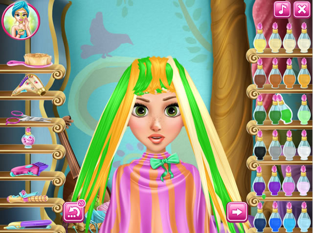 Play Rapunzel Real Haircuts Free Online Games With Qgames