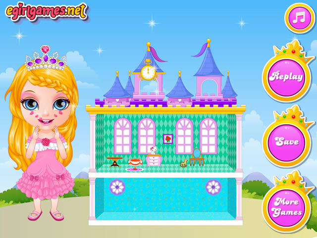 Play Baby Barbie Princess Dollhouse Free Online Games With