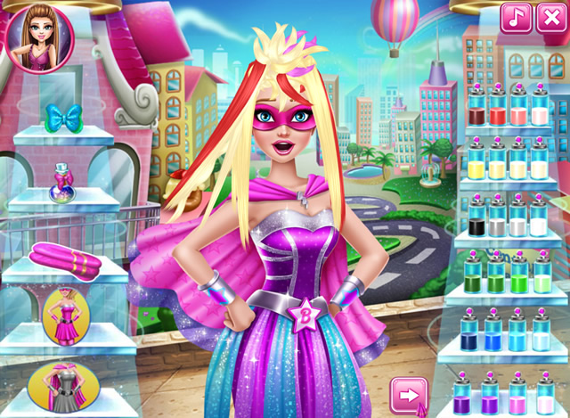Play Super Barbie Real Haircuts Free Online Games With Qgames
