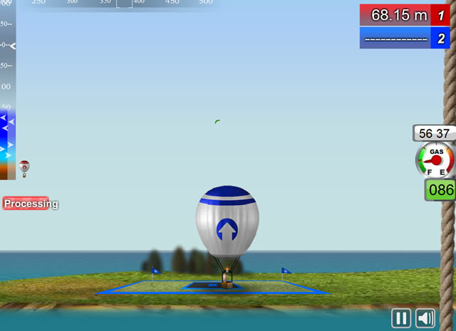 Play hot air balloons parking free online games with for Air balloon games