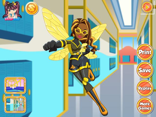 free online games superhero dress up