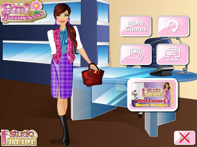Play Fashion Studio Office Outfit Design Free Online Games With Qgames Org