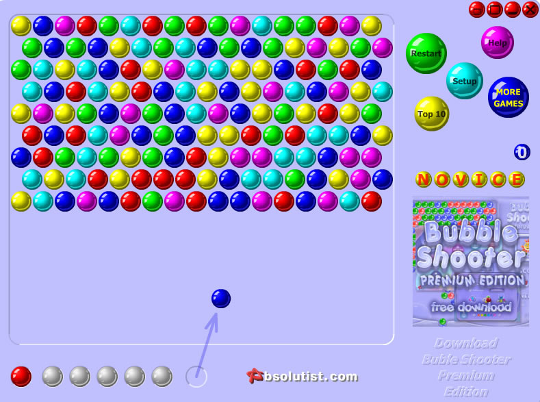 shoot bubble play online