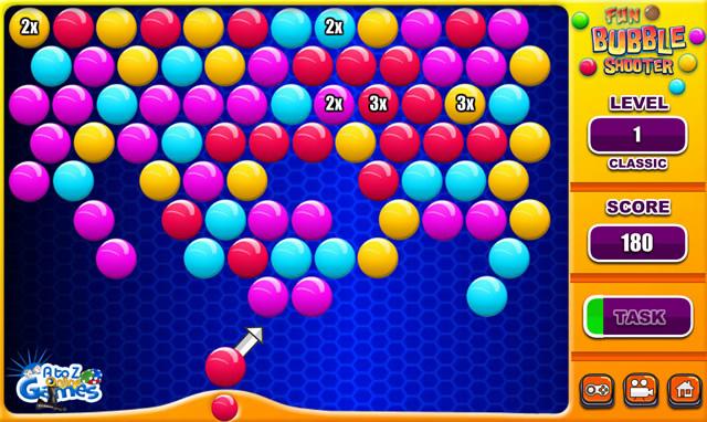 fun bubble games
