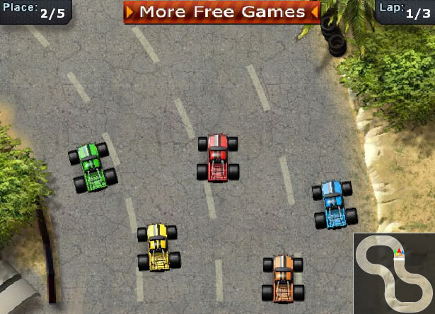 play free online monster truck racing games