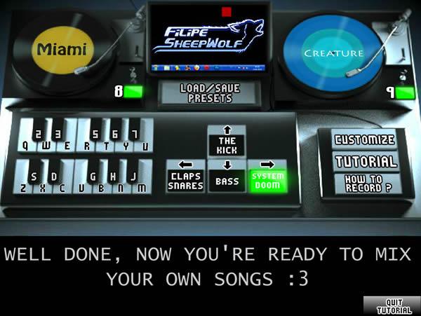 dj mixer games online
