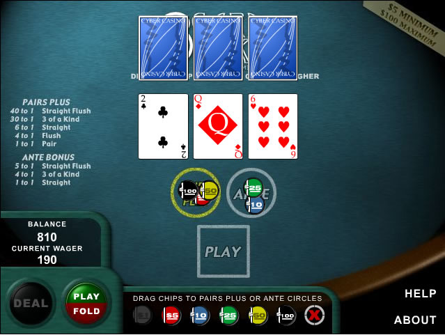 3 card poker play free online